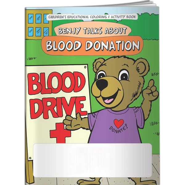 Customized Coloring Book - Benjy Talks About Blood Donation