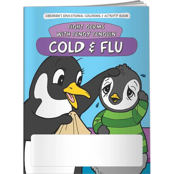 Printed Coloring Book - Cold and Flu: Fight Germs with Pengy Penguin
