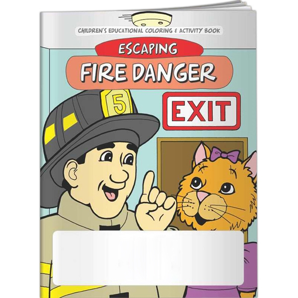 Personalized Coloring Book - Escaping Fire Danger