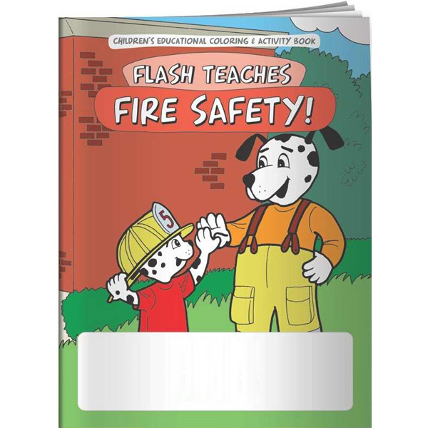 Promotional Coloring Book - Flash Teaches Fire Safety!