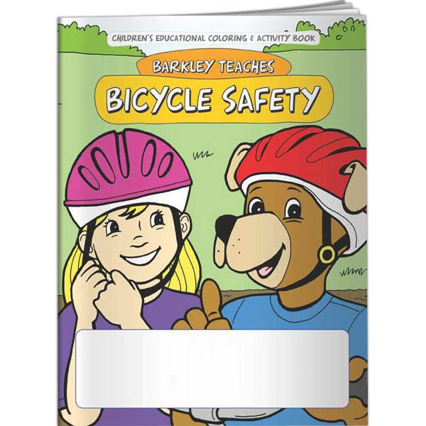 Customized Coloring Book - Barkley Teaches Bicycle Safety