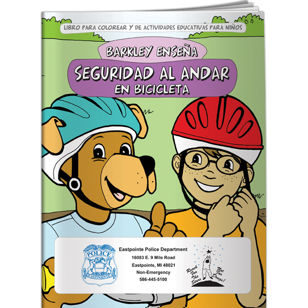 Personalized Coloring Book - Barkley Teaches Bicycle Safety (Spanish)