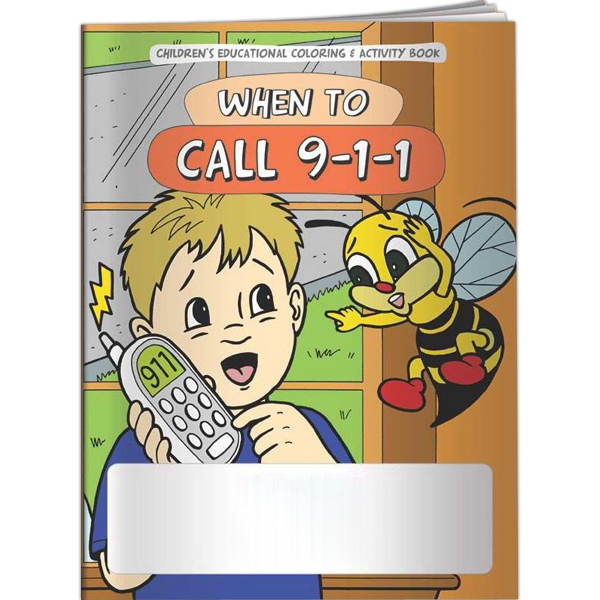 Promotional Coloring Book - When to Call 9-1-1