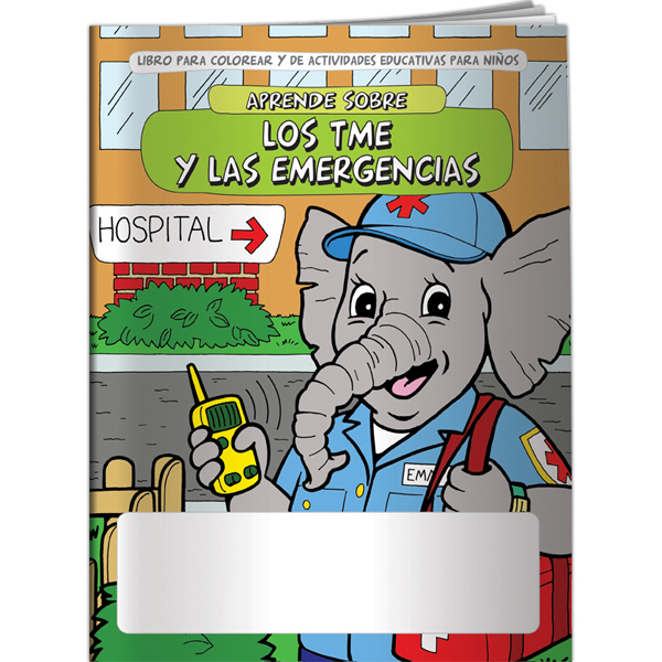Custom Coloring Book - Learn About EMTs and Emergencies (Spanish)