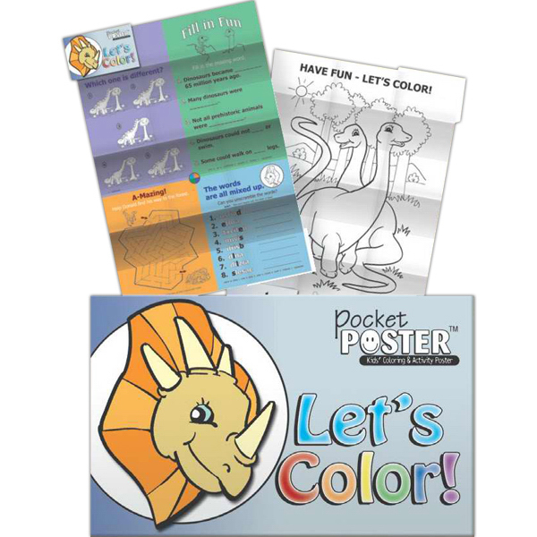 Customized Pocket Posters - Let's Color!