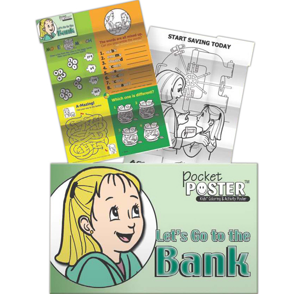 Imprinted Pocket Posters - Let's Go to the Bank