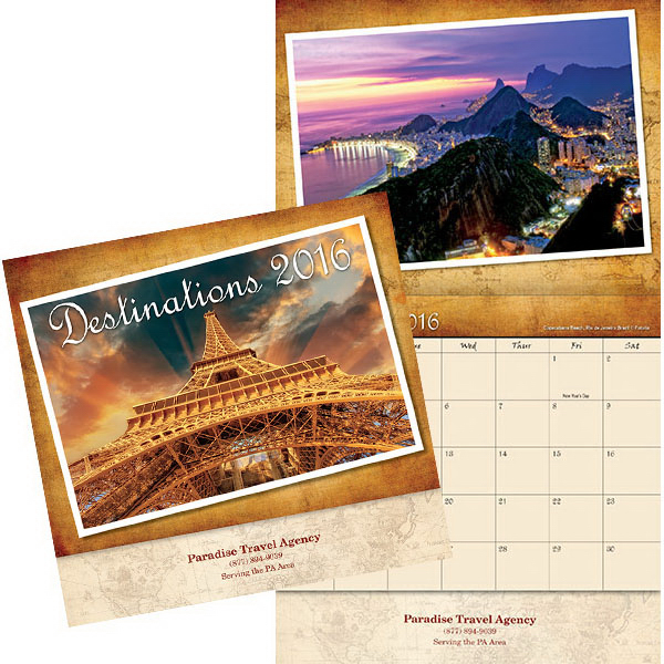Customized Kingswood Collection Destinations Wall Calendar