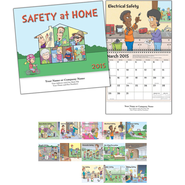 Promotional Kingswood Collection Safety Wall Calendar