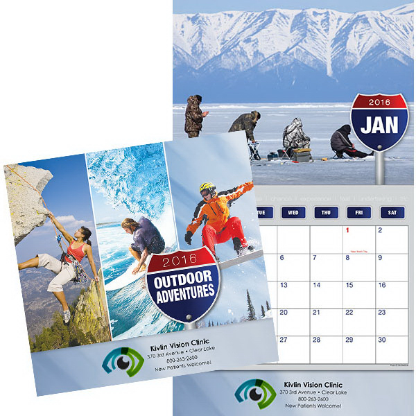 Printed Kingswood Collection Great Outdoors Wall Calendar