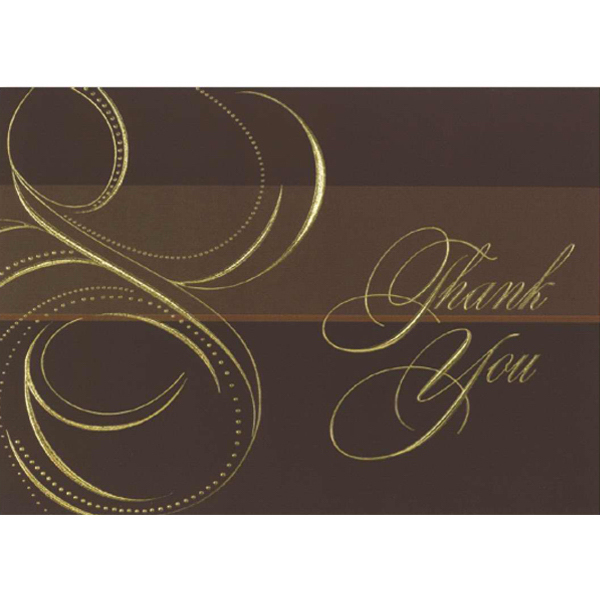 Personalized Thank You in Gold Greeting Card