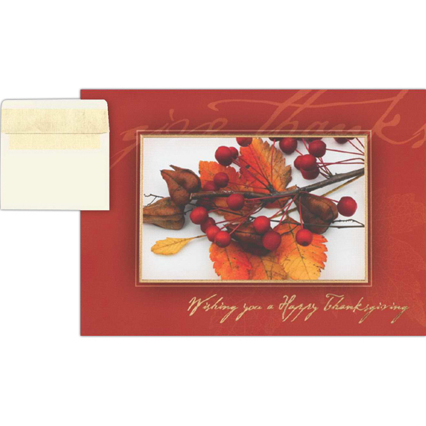 Printed Give Thanks Greeting Card