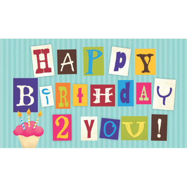 Printed Birthday Code Greeting Card