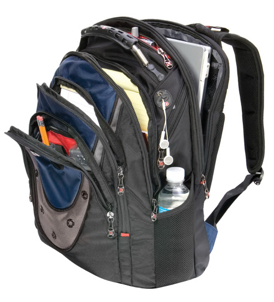"Imprinted IBEX 17"" computer backpack"