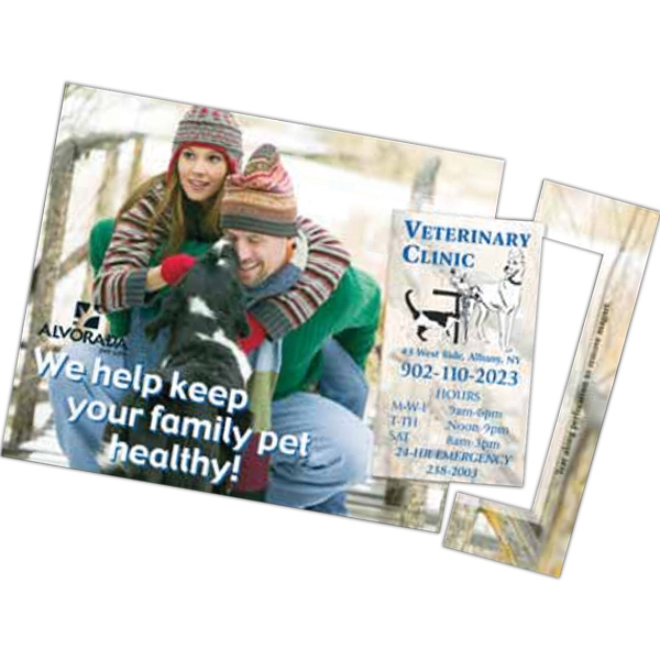 Printed Perf 5 x 7-1/2 Direct Mail Magnet Postcard