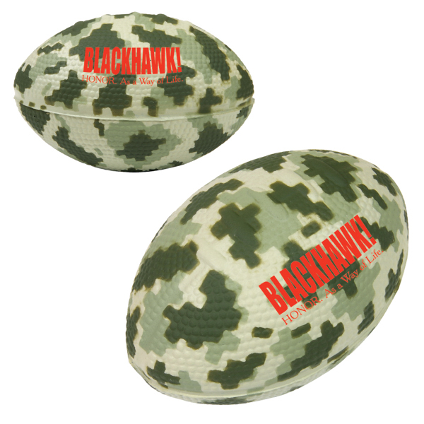 Custom Digital Camo Football Stress Reliever