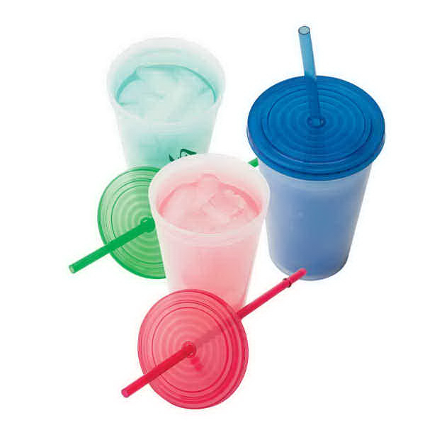 Promotional 16 oz. Color-Changing Tumbler With Straw