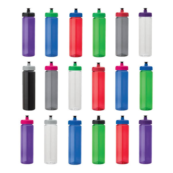 Promotional 25 oz. PET Bottle With Pull Spout Lid