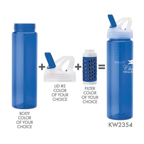 Promotional 25 oz. PET Bottle With Flip Spout & Filter