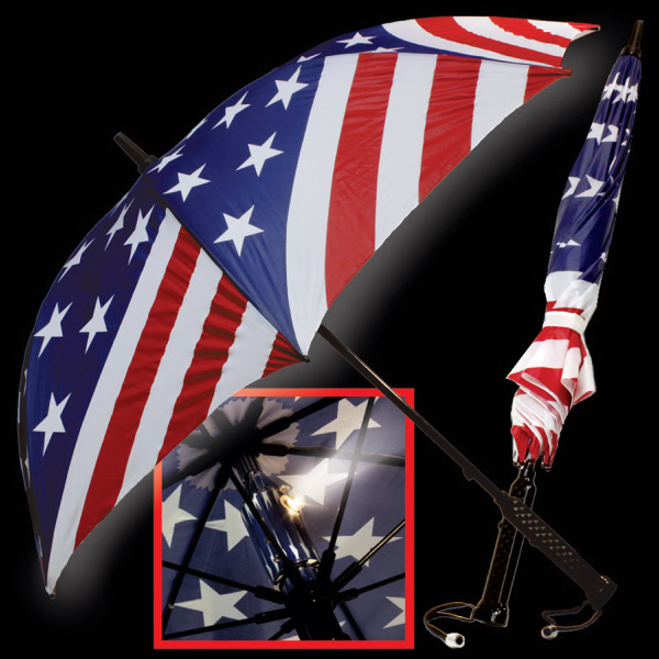 Customized Patriotic Flag LED Umbrella
