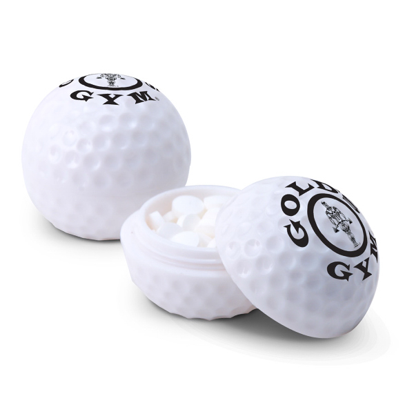 Promotional Golf Ball Container Filled with Mints