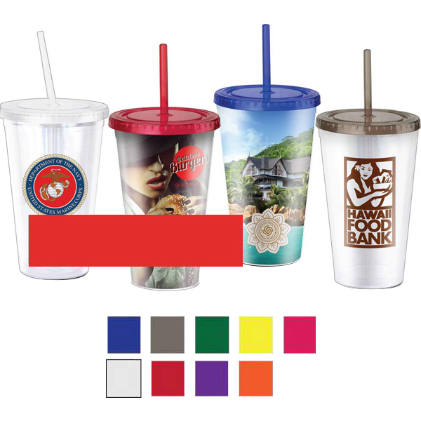 Promotional 18 oz. Eco Friendly To Go Cup with PVC or Paper Insert