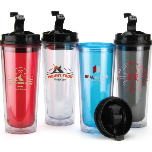 Printed 14 oz. Flip Top BPA Free Double Wall Tumbler
