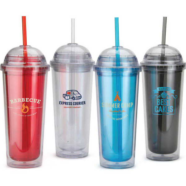 Custom 14 oz.BPA Free Clear Tumbler with Domed Lid