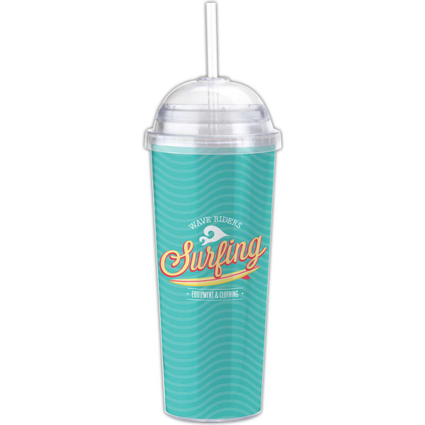 Promotional Double wall 14 oz. tumbler with Paper/PVC insert