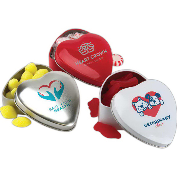 Printed Large Heart Shaped Tin