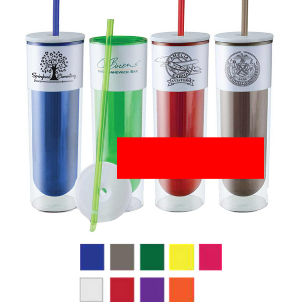 Customized 16 oz. BPA Free Clear Water Tumbler