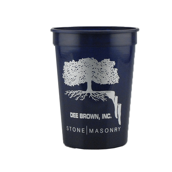 Personalized 12oz Stadium Cups Dark Blue