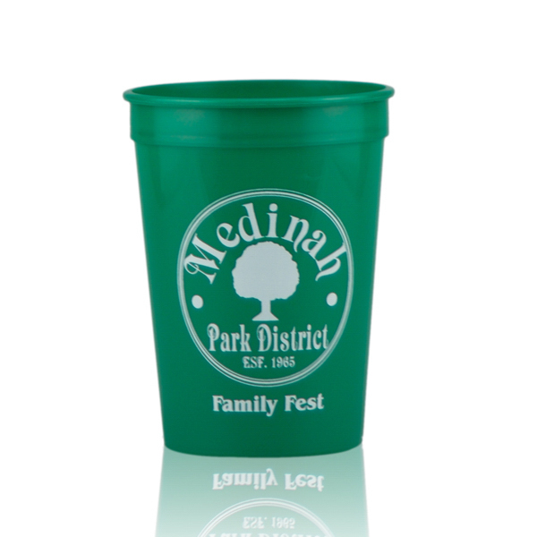 Customized 12oz Stadium Cups green