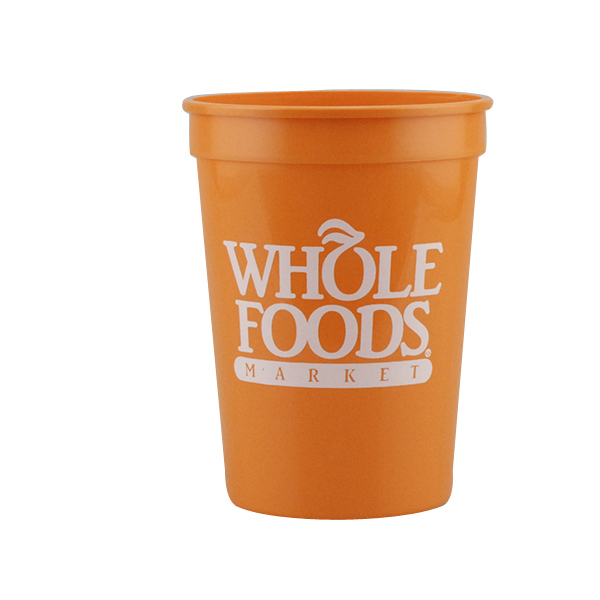 Printed 12oz Stadium Cups Orange