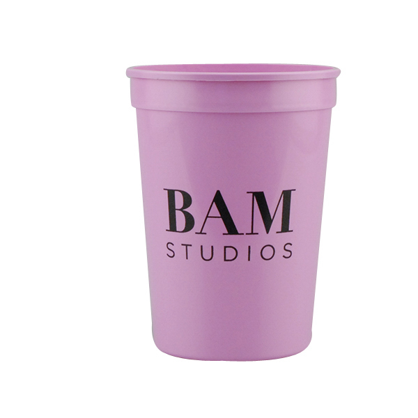 Customized 12oz Stadium Cups pink