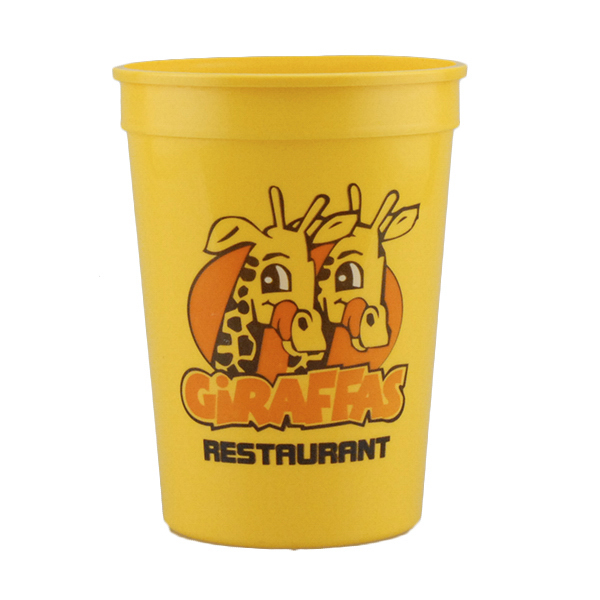 Custom 12oz Stadium Cups Yellow