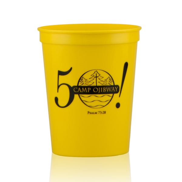 Personalized 16oz Stadium Cups Yellow