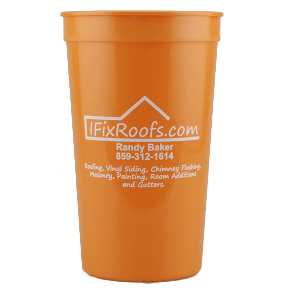 Printed 22oz Stadium Cup Orange