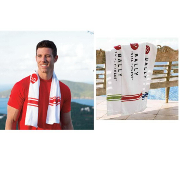 Customized Turkish Signature (TM) Striped Workout Towel
