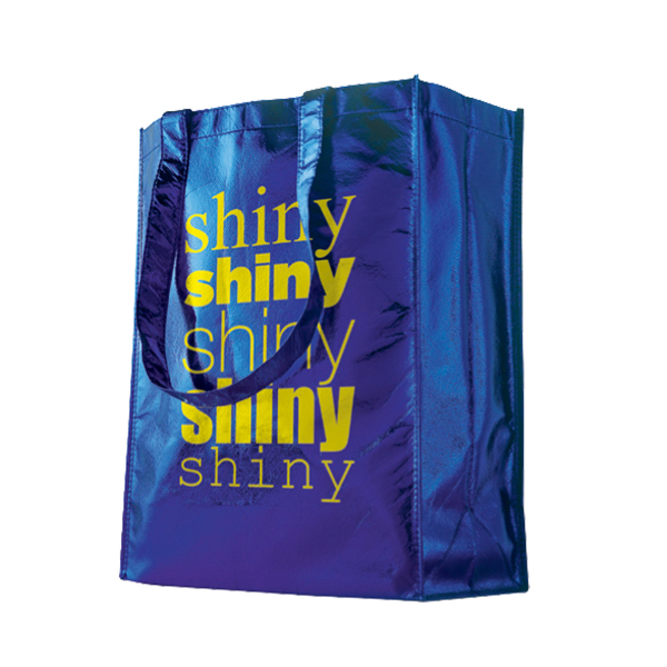 Personalized Horizontal Trendy Shopping Bag - Large