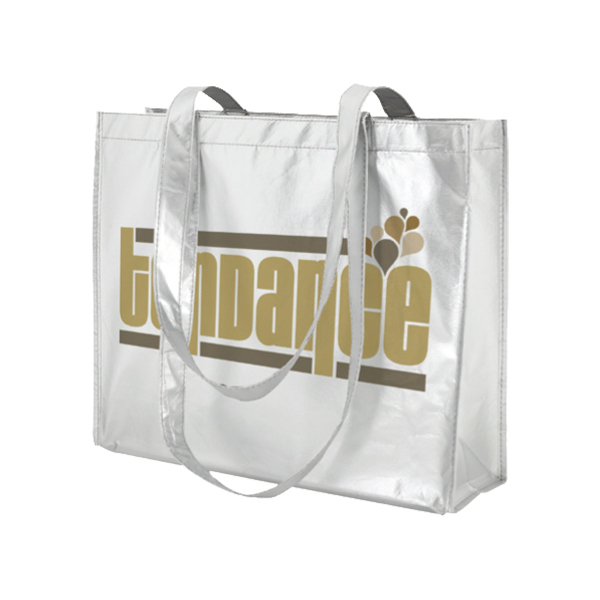 Printed Horizontal Trendy Shopping Bag - Large