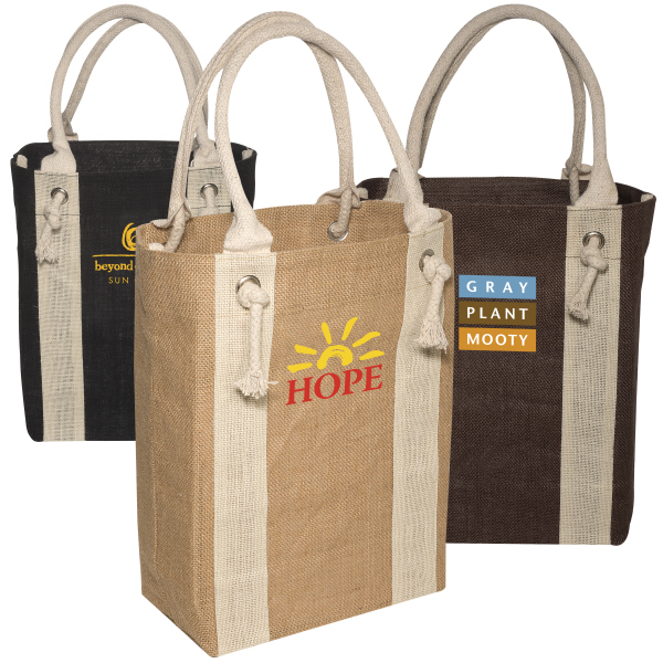 Personalized Yachter's Jute Tote