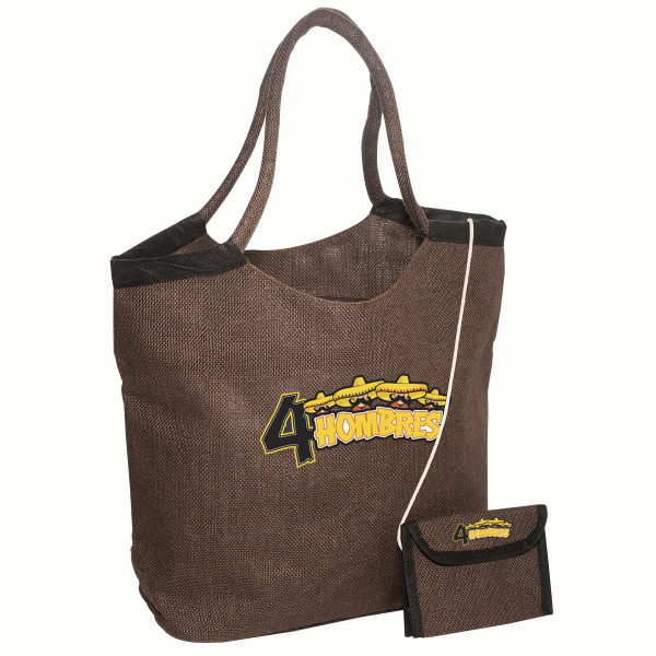 Customized Market Jute Tote with Wallet