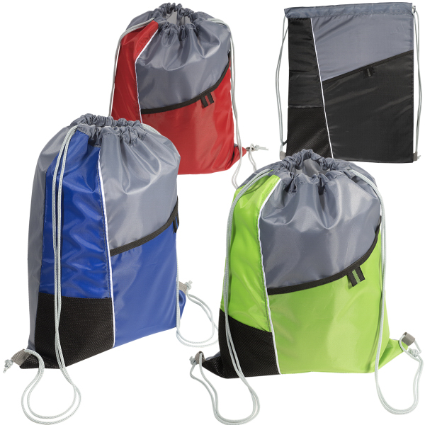 Promotional Two-Pocket String-A-Sling Backpack