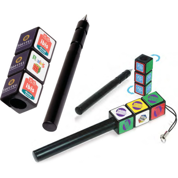Imprinted Custom Rubik's (R) Puzzle Pen