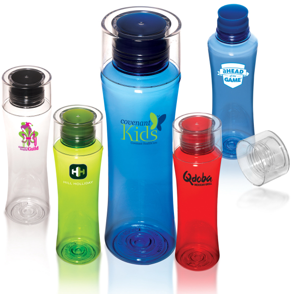 Custom Tritan (TM) Bottle with Silicone Stopper