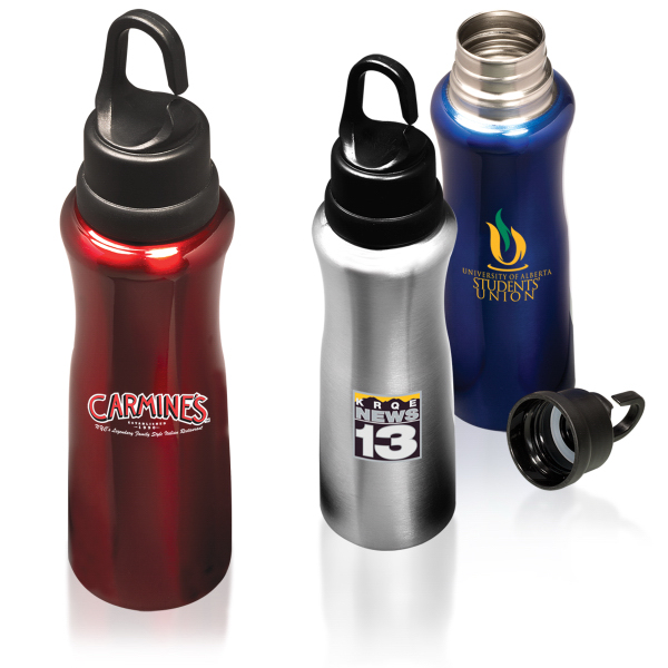 Custom Hook Cap Stainless Steel Bottle