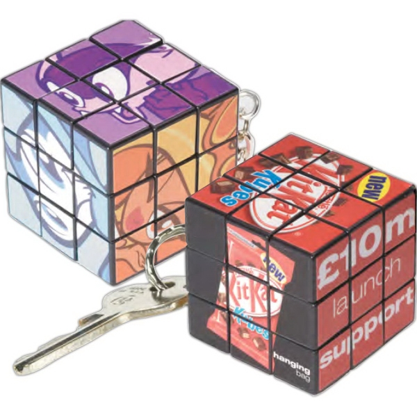 Personalized Custom Micro Rubik's (R) Cube Key Ring