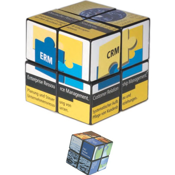 Promotional Rubik's (R) 4-Panel Full Custom Cube