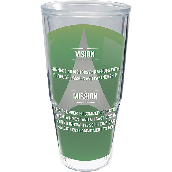 Imprinted 24 oz Thermal Tumbler with clear Printed Insert