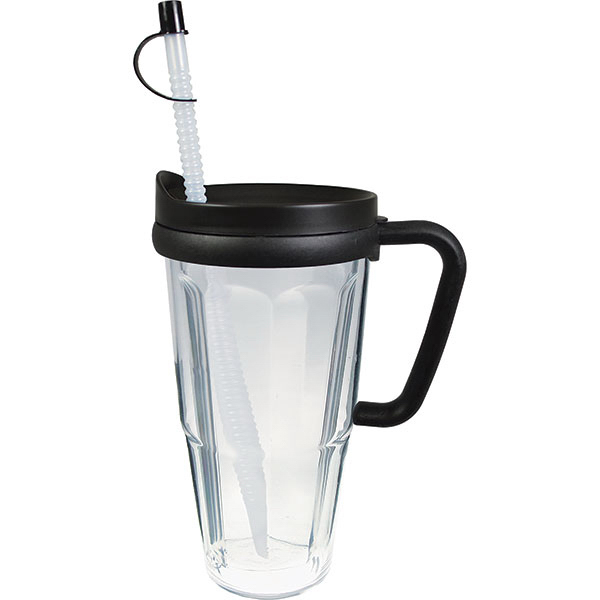 Imprinted 24oz Thermal Travel Mug with Lid & Handle